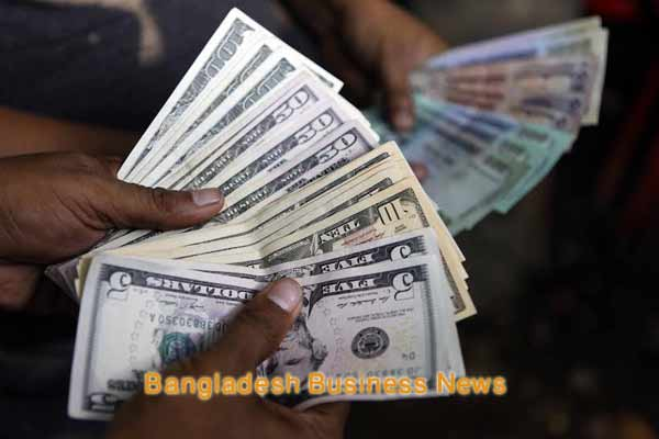 Bangladesh Taka appreciates by seven paisa against US dollar at customer level