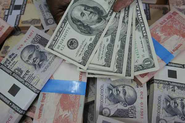 Rupee dives to 68.05 against dollar