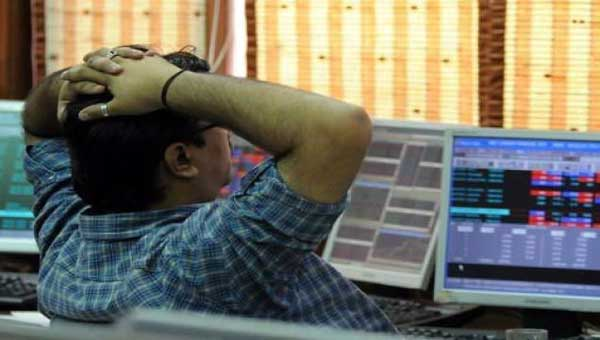 Sensex down 50 points on weak macro data, global cues
