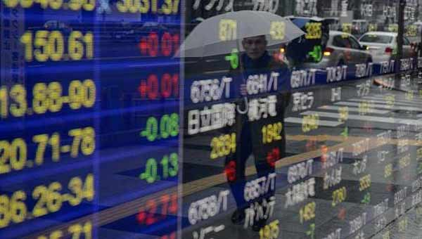 Asian shares end mixed; yen strengthens to 109 versus the dollar