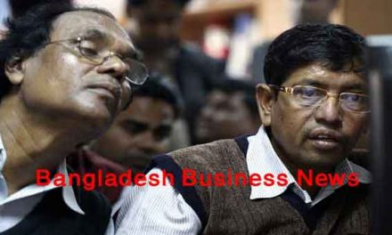 Bangladesh's stocks stay down at midday on Sunday