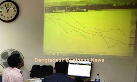 Bangladesh's stocks stay down at midday Sunday